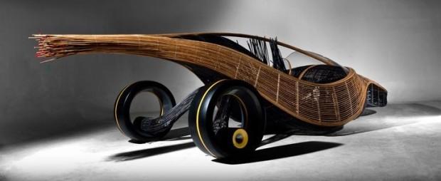Биоразлагаемый веломобиль Biodegradablecar-bike-620x254