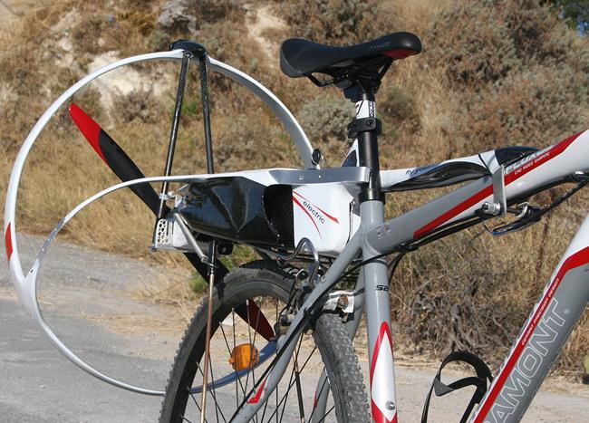 Нетрадиционный електровелосипед АeroBicle или электровелосипед с пропеллером